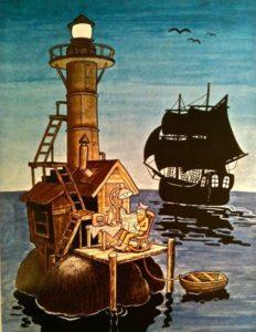 När jag var liten ville jag bo på den där fyren i Jan Lööfs Morfar är pirat. Det verkade så fridfullt.